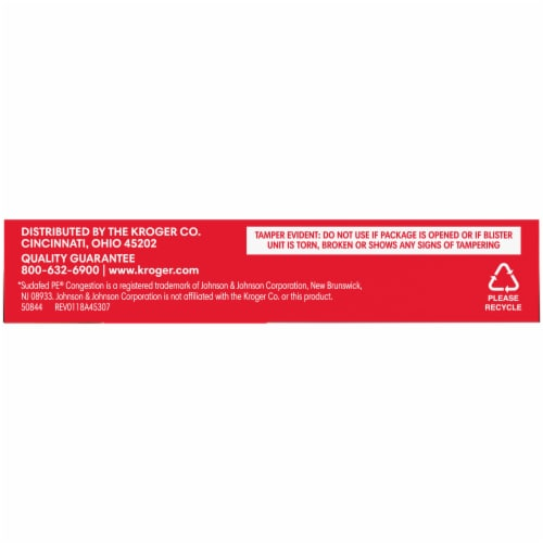 Kroger® Maximum Strength Non-Drowsy Nasal Decongestant PE Tablets 10mg Perspective: bottom
