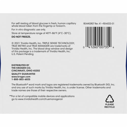 Kroger® True Metrix® Air Self Monitoring Blood Glucose Meter Perspective: bottom