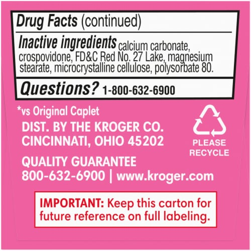 Kroger® Ultra Strength Stomach Relief Caplets Perspective: bottom