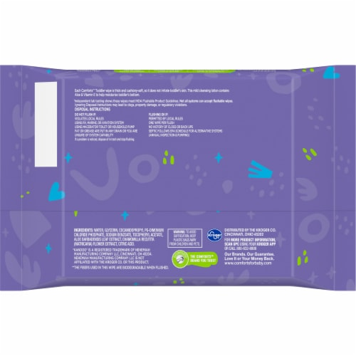 Comforts™ Fragrance-Free Flushable Wipes Perspective: bottom