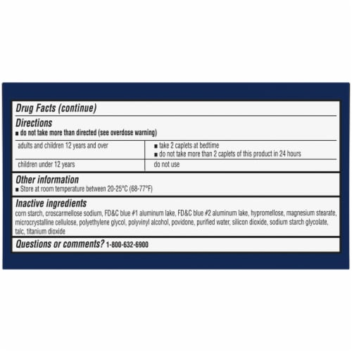Kroger® Extra Strength Acetaminophen PM Caplets Twin Pack Perspective: bottom