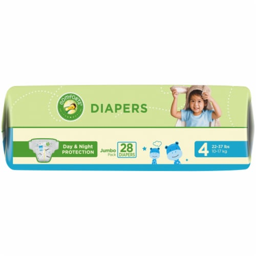 Comforts™ Day & Night Protection Size 4 Baby Diapers Perspective: bottom