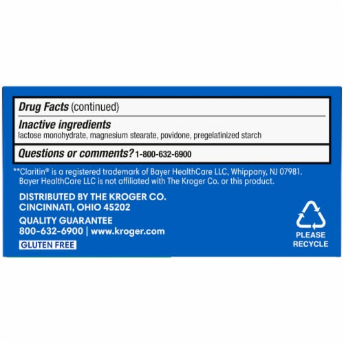 Kroger® Non-Drowsy 24 Hour Allergy Relief Tablets Perspective: bottom