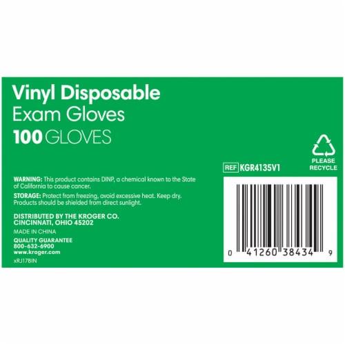 Kroger® Powder-Free Vinyl Disposable Exam Gloves Perspective: bottom