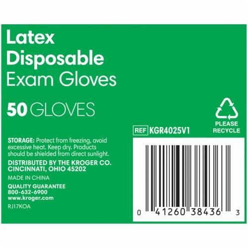 Kroger® Powder-Free Latex Disposable Exam Gloves Perspective: bottom