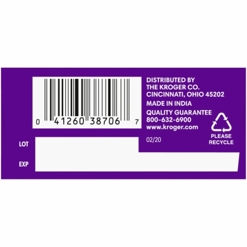Kroger® 24 Hour Non-Drowsy Allergy Relief Tablets 180mg Perspective: bottom