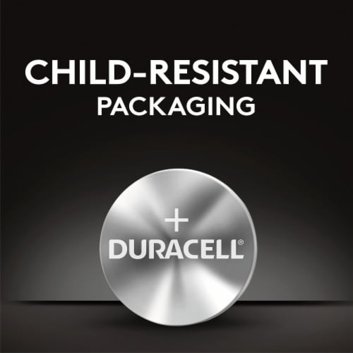 Duracell 2450 Lithium Coin Button Battery Perspective: bottom