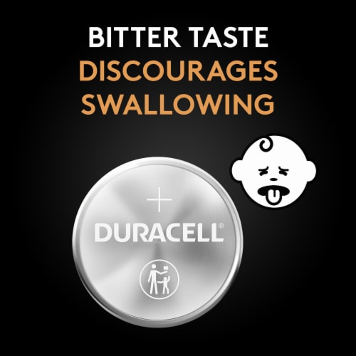 Duracell 2032 Lithium Coin Batteries Perspective: bottom