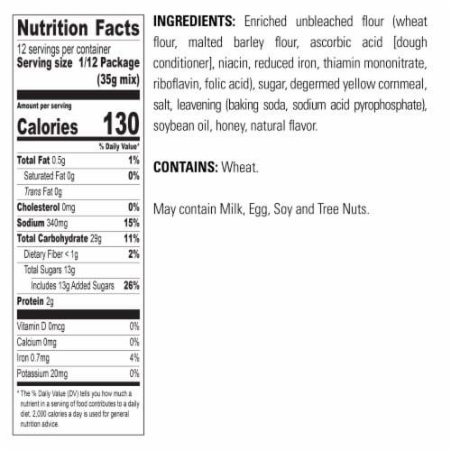 Krusteaz® Honey Cornbread and Muffin Mix Perspective: bottom