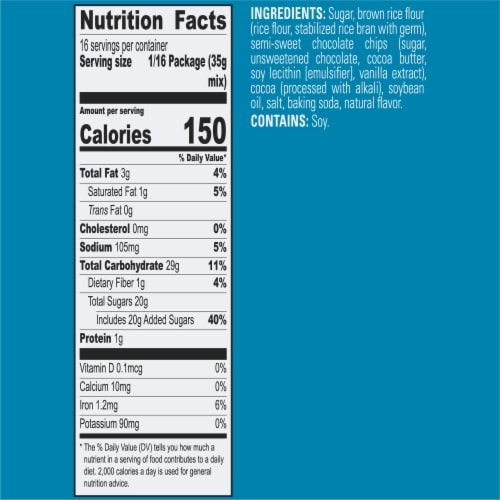 Krusteaz Gluten Free Double Chocolate Brownie Mix Perspective: bottom