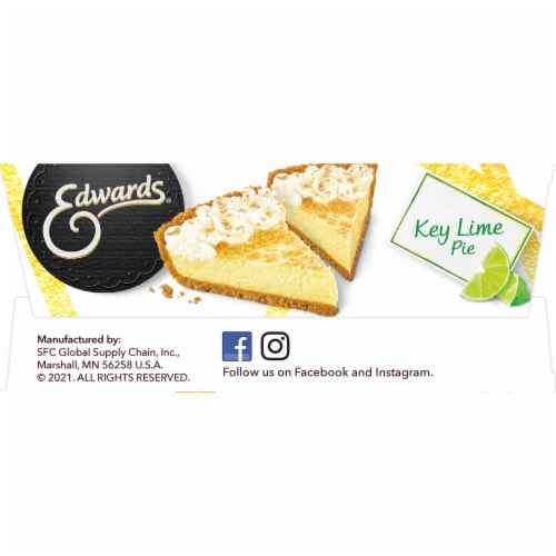 Edwards Key Lime Pie Slices Perspective: bottom