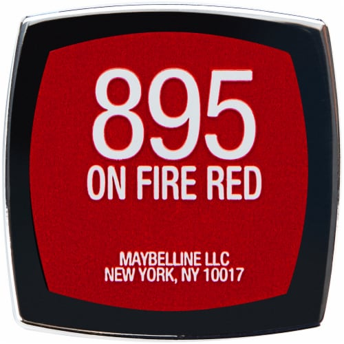 Maybelline Color Sensational 895 On Fire Red Lipstick Perspective: bottom