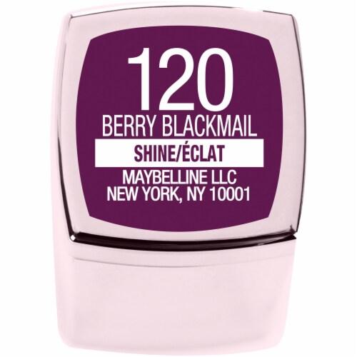 Maybelline Color Sensational Shine Compulsion Berry Blackmail Lipstick Perspective: bottom