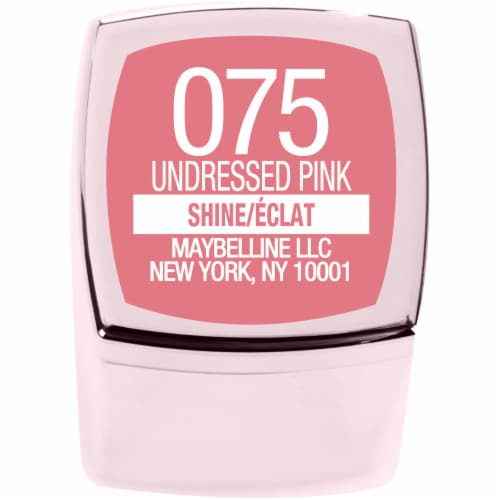 Maybelline Color Sensational Shine Compulsion Undressed Pink Lipstick Perspective: bottom
