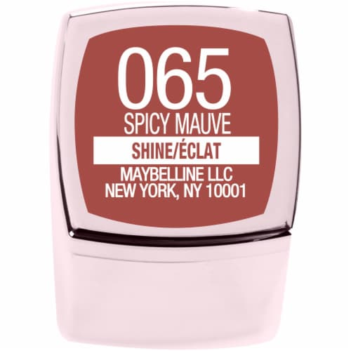 Maybelline Color Sensational Shine Compulsion Spicy Mauve Lipstick Perspective: bottom