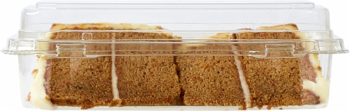 Bakery Fresh Goodness 2 Slice Carrot Cake with Cream Cheese Icing Perspective: bottom