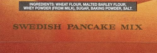 Lund's Swedish Pancake Mix Perspective: bottom