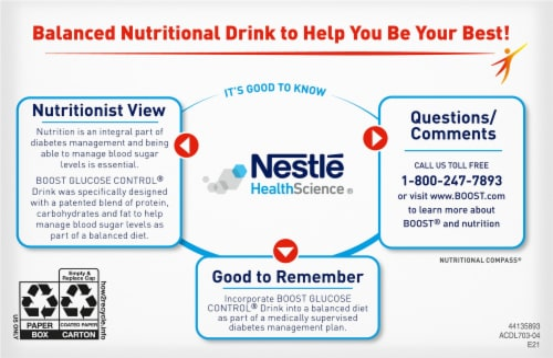 Boost Glucose Control Vanilla Delight Nutritional Drink Perspective: bottom