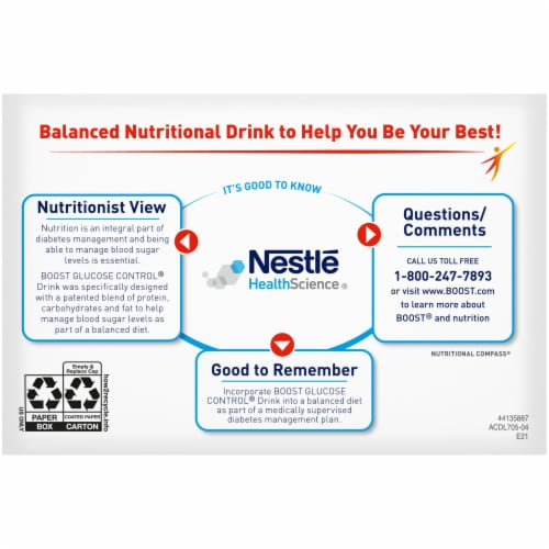 Boost Glucose Control Strawberry Bliss Balanced Nutritional Drink Perspective: bottom