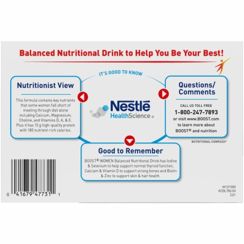 Boost Women's Rich Chocolate Nutritional Drink Perspective: bottom