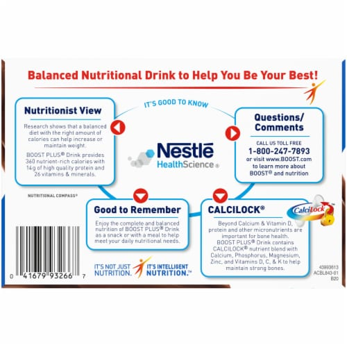 Boost® Plus Rich Chocolate Balanced Nutritional Drinks Perspective: bottom