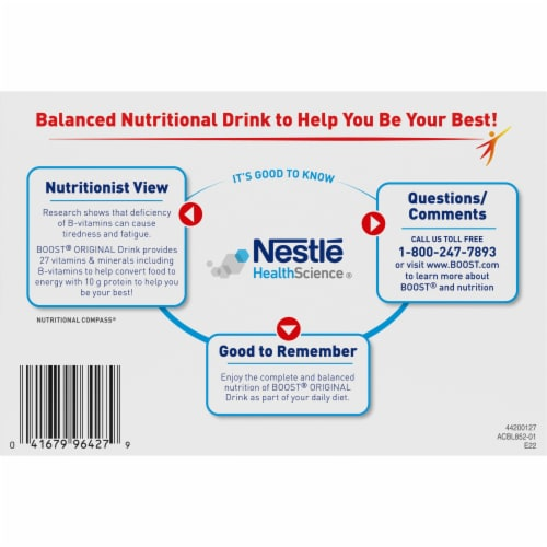 Boost® Original Peaches & Creme Complete Nutritional Drinks Perspective: bottom