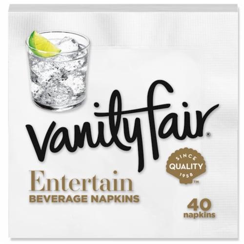 Vanity Fair® Entertain White Disposable Paper Beverage Napkins Perspective: bottom