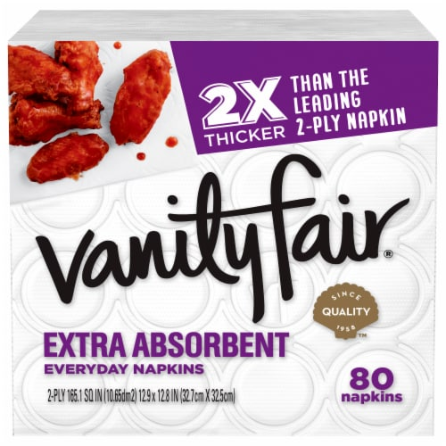 Vanity Fair® Extra Absorbent White Paper Napkins Perspective: bottom