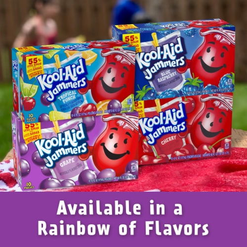 Kool-Aid Jammers Grape Flavored Drink Pouches Perspective: bottom