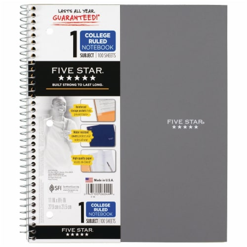Five Star® College-Ruled 1-Subject Notebook - Assorted Perspective: bottom
