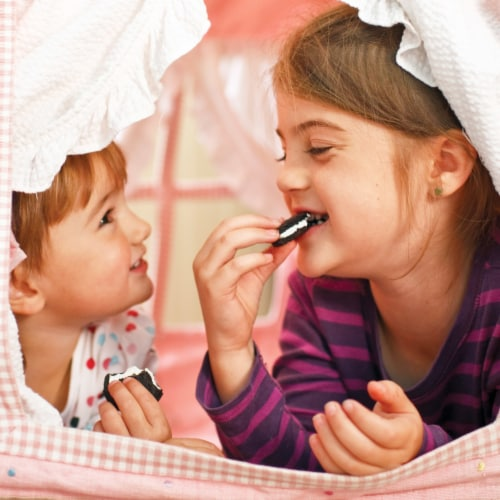 Oreo Double Stuf Chocolate Sandwich Cookies Family Size Perspective: bottom