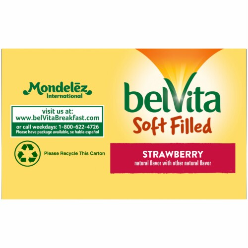 belVita Soft Filled Strawberry Baked Biscuits Perspective: bottom