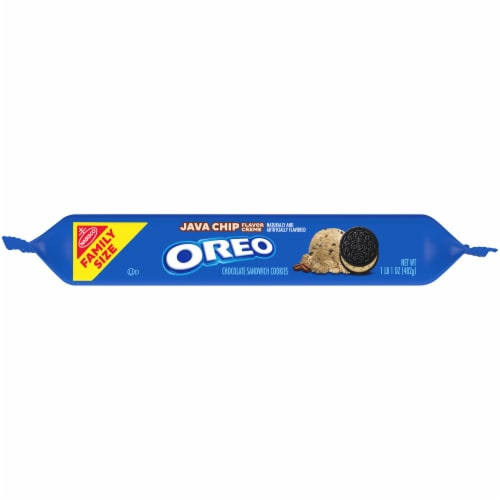 Oreo Java Chip Flavor Creme Chocolate Sandwich Cookies Perspective: bottom