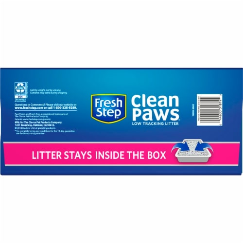 Fresh Step Clean Paws Triple Action Low Tracking Clumping Cat Litter Perspective: bottom
