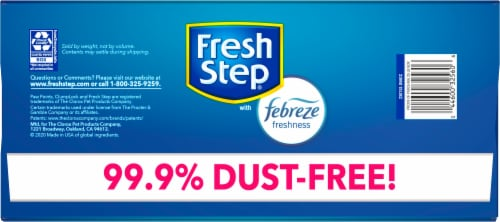 Fresh Step Gain Scent Clumping Cat Litter with Febreze Perspective: bottom