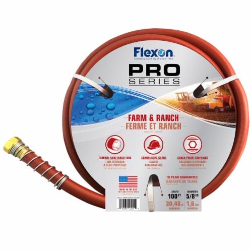 Flexon 5/8 x 100ft Farm & Ranch Garden Hose Perspective: bottom