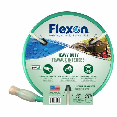 Flexon 5/8 x 75ft Heavy Duty Garden Hose Perspective: bottom