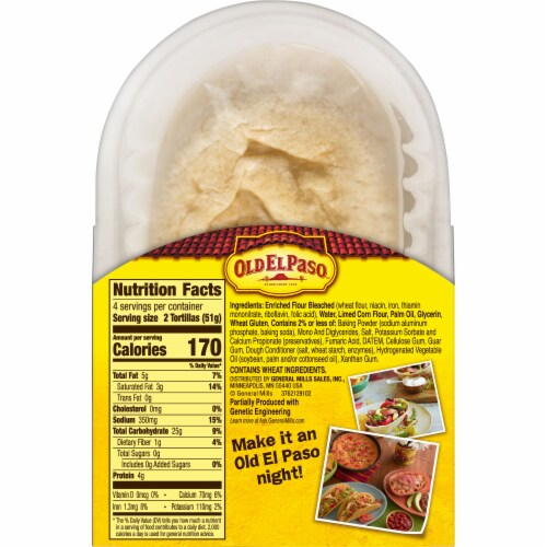 Old El Paso Flour & Corn Blend Soft Tortilla Bowl Perspective: bottom