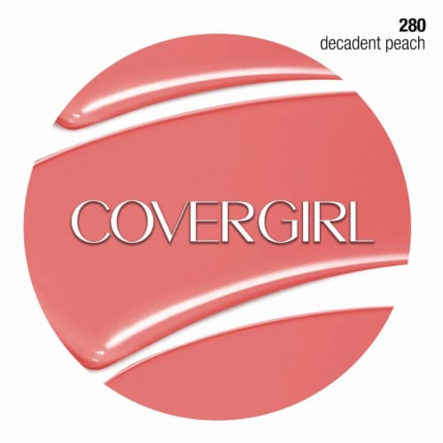 CoverGirl Colorlicious Decadent Peach 280 Lipstick Perspective: bottom