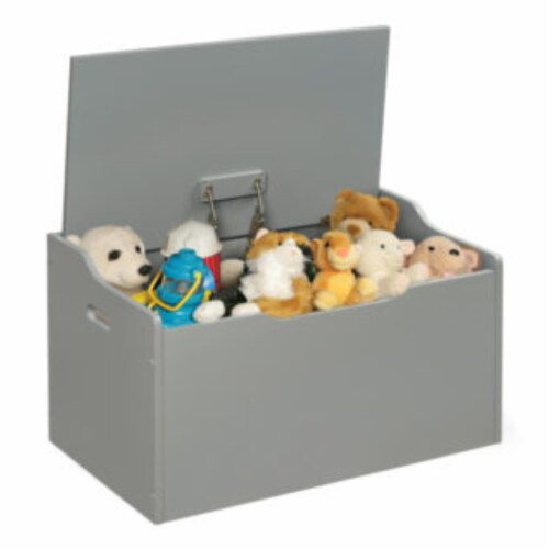 Bench Top Toy Box - Gray Perspective: bottom