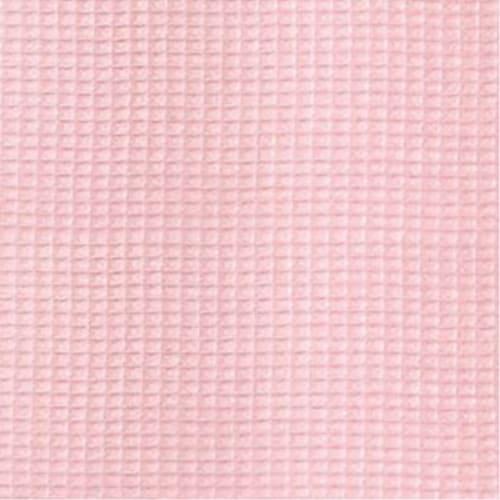 Folding Nursery Basket/Storage Cube - Pink Waffle Perspective: bottom