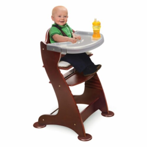 Embassy Wood High Chair with Tray - Cherry Perspective: bottom