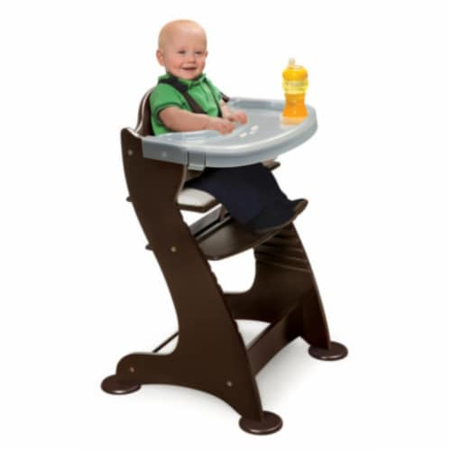 Embassy Wood High Chair with Tray - Espresso Perspective: bottom
