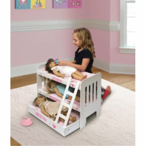 Trundle Doll Bunk Beds w/Ladder Perspective: bottom