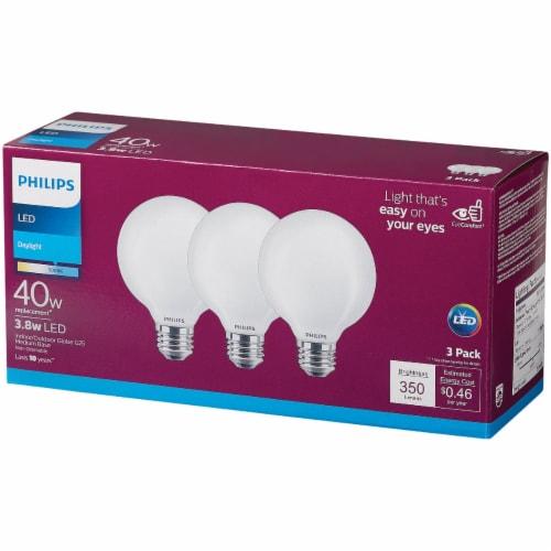 Philips 3.8-Watt (40-Watt) Medium Base Globe G25 LED Light Bulbs Perspective: bottom