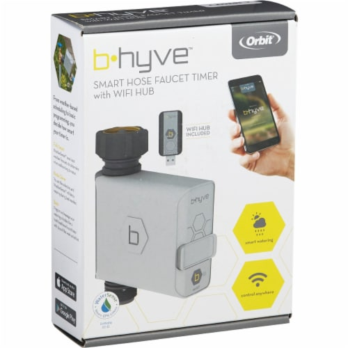 Orbit B-hyve Smart Programmable 1 zone WiFi Hose Faucet Timer - Case Of: 1; Perspective: bottom