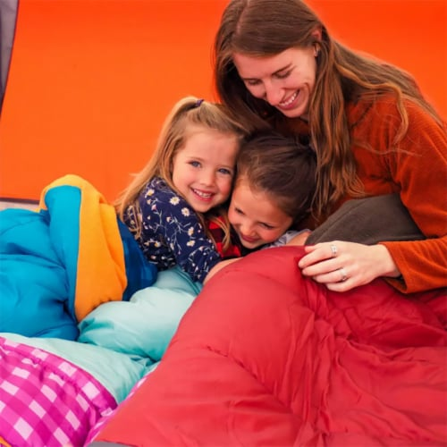 Wenzel Sapling 40 - 50 Degree Fahrenheit Kids Camping Sleeping Bag, Youth (Pink) Perspective: bottom