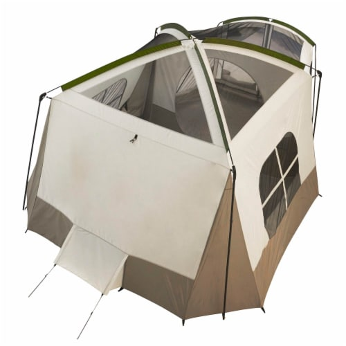 Wenzel Klondike Large Outdoor 8 Person Camping Tent with Screen Room, Green Perspective: bottom