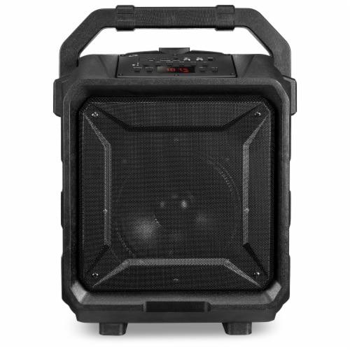 iLive Portable Bluetooth Tailgate Speaker - Black/Silver Perspective: bottom
