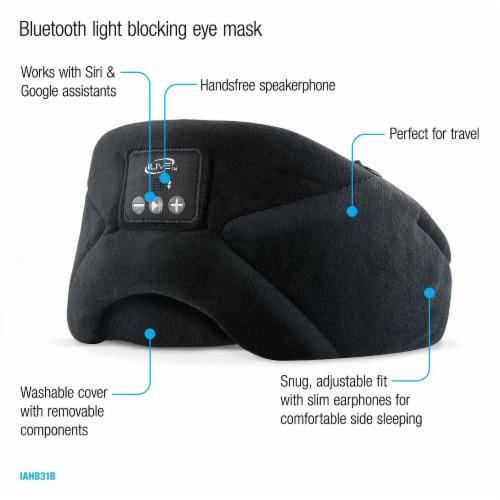 iLive IAHB31B Bluetooth Sleep Mask Headphones Perspective: bottom